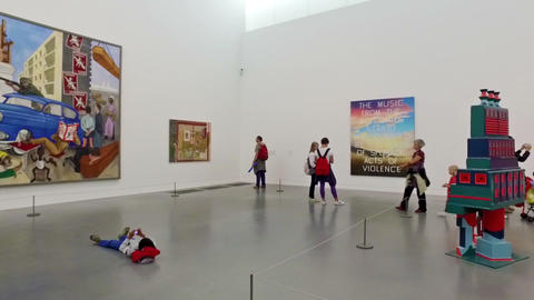 London. United Kingdom. August 2016. Children and families visiting the Tate Mod