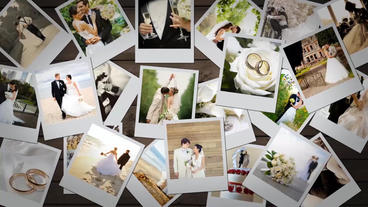 Photo Gallery - Falling Photos After Effects Templates