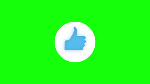 Like Subscribe Ring Bell Share Circle Icon on Green Screen CG動画