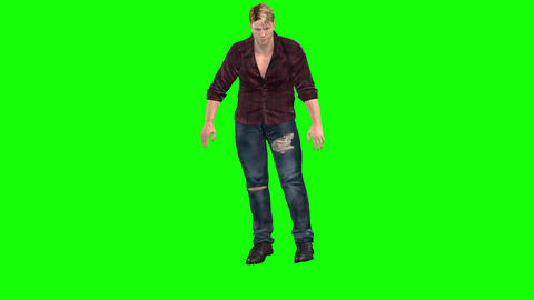 758 4k Health and OBESITY 3d animated fat man walking and falls from heart attack Animation
