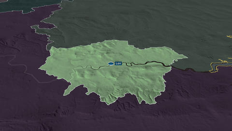 London - region of United-Kingdom. Administrative Animation