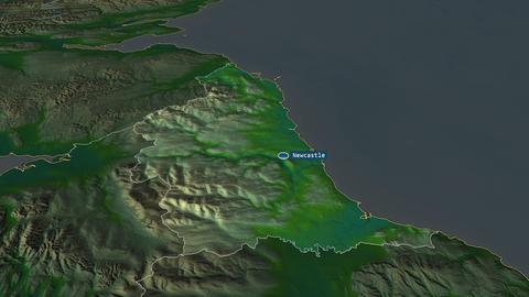 North East - region of United-Kingdom. Physical Animation