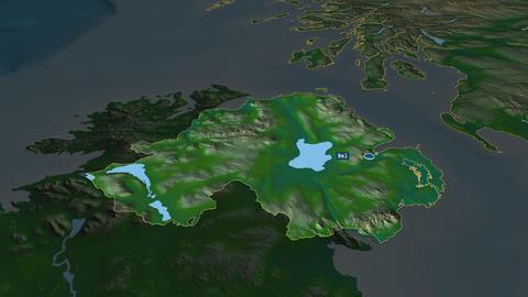 Northern Ireland - region of United-Kingdom. Physical Animation