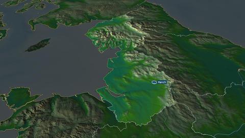 North West - region of United-Kingdom. Physical Animation