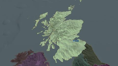 Scotland - region of United-Kingdom. Administrative Animation