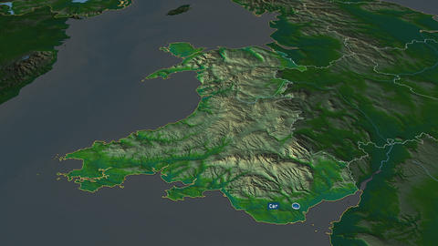 Wales - region of United-Kingdom. Physical Animation