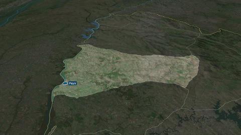Paysandú - department of Uruguay. Satellite Animation