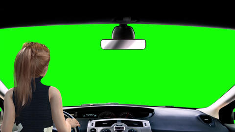 769 4k 3d animated two footages girl and man driving car Category Draving Travel LIfe style Animation