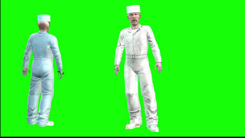 770 4k 3d animated cook walking and explaining about business Category food and restourant business Animation