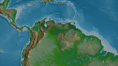 Anzoátegui - state of Venezuela. Physical Animation