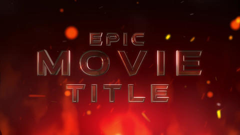 Epic Movie Title After Effects Template