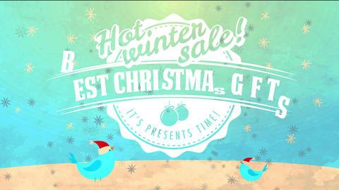 christmas offer agreement advert fresh lettering over bottle cap detailed with vertebrate under Animation