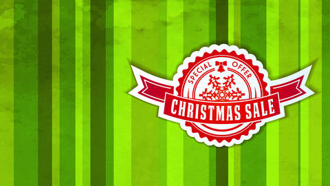 unique christmas selling offer with miniature rounded icon with award and flake detailed over season Animation