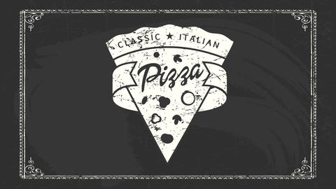 classic italian pizza ad for delicious product sold on renowned pizzeria selling only wood oven CG動画