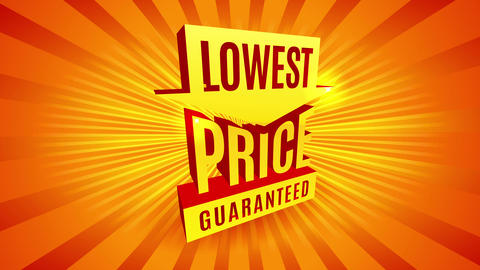 lowest price guaranteed big 3d letters for discount sale promo with hot orange sunburst on Animation