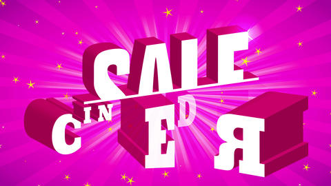 rose brilliant sunburst background presenting floating 3d words for fabulous trade advert with Animation