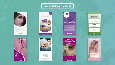 Spa & Wellness Stories v2 Plantillas de Motion Graphics