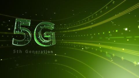 5G Digital Network technology 5th generation mobile communication concept background 6 green2 4k Animation