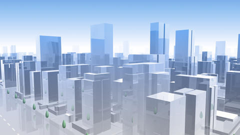 City Building Simple Modern Skyscraper business street background G1 sky 4k Animation