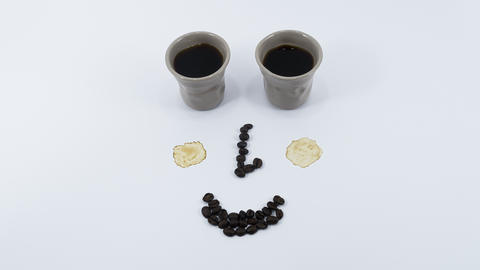 Smiling coffee stop motion Live Action