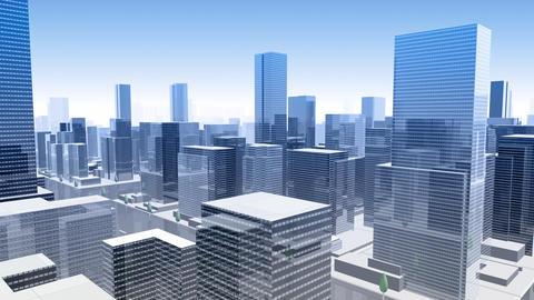 City Building Simple Modern Skyscraper business street background G4 sky 4k Animation