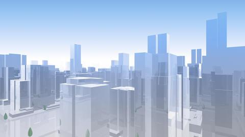 City Building Simple Modern Skyscraper business street background Ha1 sky 4k Animation