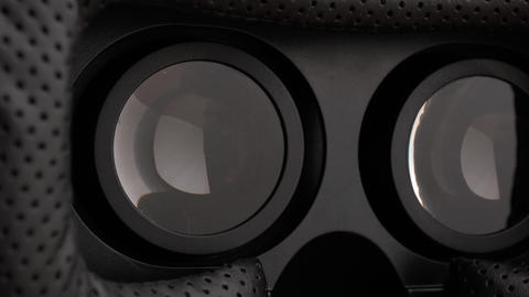 virtual reality headset. optical lenses for viewing Live Action