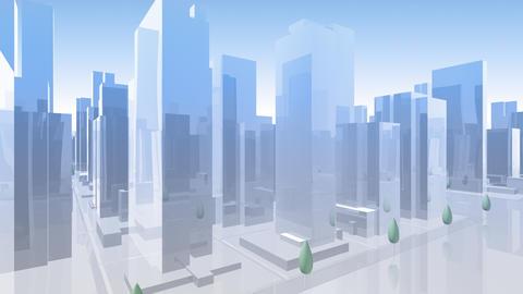 City Building Simple Modern Skyscraper business street background Hc1 sky 4k Animation