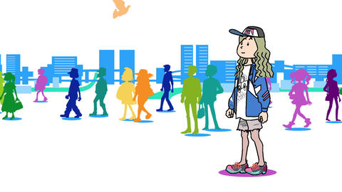 A woman walking in the city04 Animation
