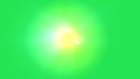 Glowing plasma background on green screen Animation