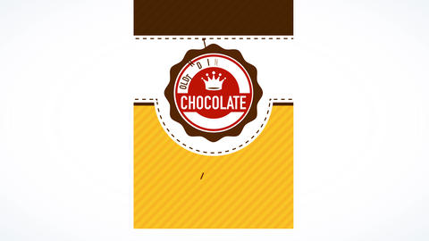 package art for craft chocolate coming from old tradition with vintage striped and dotted background Videos animados