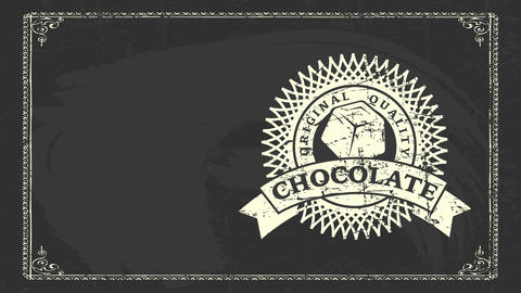 real value chocolate white chalk graphical drawn on black chalkboard for healthful brown and coffee Videos animados