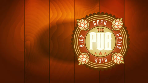 the pub symbolic label with jump branches decorating a oval icon for craftsmanship beer distillery Videos animados