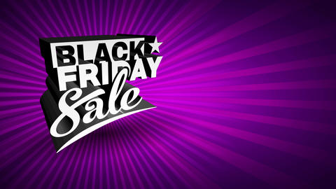 stunning black friday selling sign with glittering mauve sunshine scene presenting black 3d typing Animation