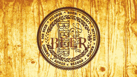 pyrography style concept art for brewery bar offering perfect craft beer over clear shiny wood Videos animados