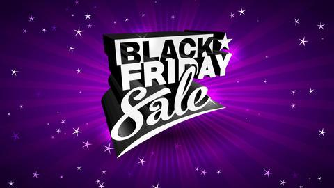 impressive black friday selling mark with intelligent magenta sunshine background presenting black Animation