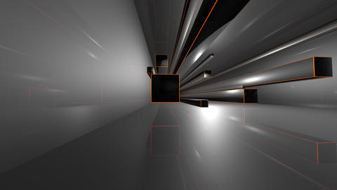 3d volume in which endless cubes, movement Videos animados