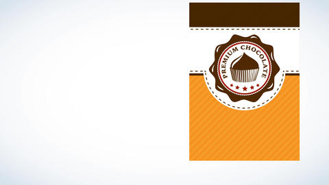 fancy brown cake package made with 3 different layers with shining topping visual sharing delicious Animation