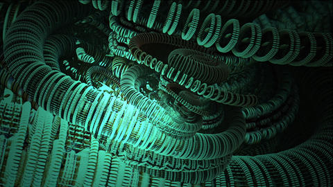 Infinite Zoom Into Abstract Digital cg background Animation