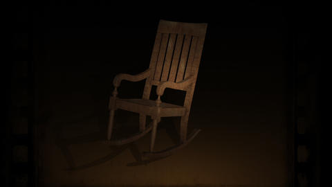 3d animation of Rocking Chair Swinging On The floor Animation