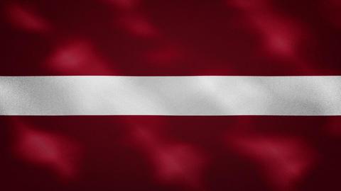 Latvian dense flag fabric wavers, background loop Animation