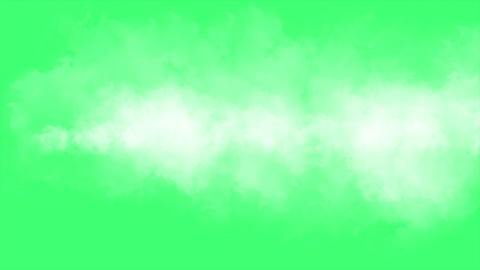 4k animation - Clouds effect on green screen CG動画