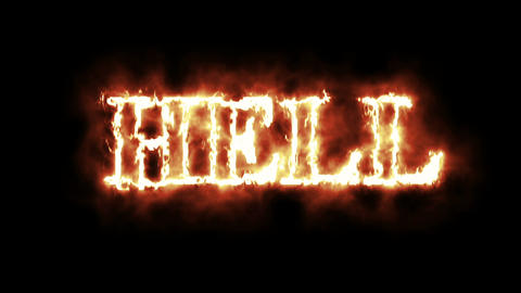 4k animation - Concept Of Word Hell In Fire Animation