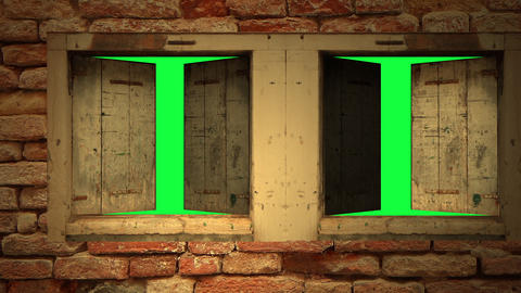 Open windows - 3d animation on Green Screen Animation