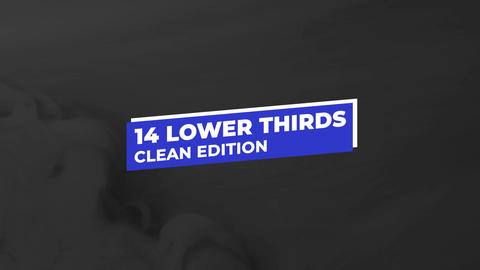 14 Clean Lower Thirds Premiere Proテンプレート