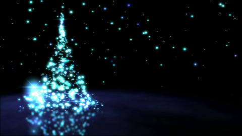 Sparkling Christmas Tree Animation - Loop Blue Animation