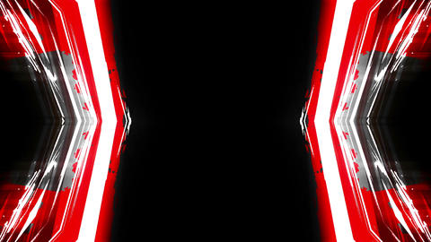 Kaleidoscopic animation Red-Black-White Lines 4K Animation