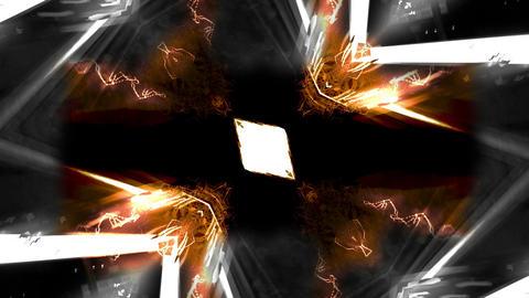 Kaleidoscopic animation Orange-Black-White 4K Stock Video Footage