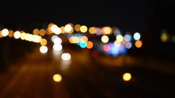 Defocused night traffic lights-Bangkok Live影片