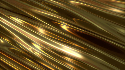 abstract gold wave rich bg Animation